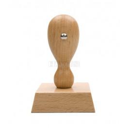 Razítko dřevěné, otisk 50x45 mm