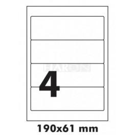 Tisk samolepících etiket 190 x 61 mm