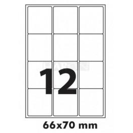 Tisk samolepích etiket 70 x 66 mm