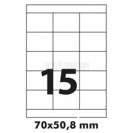 Tisk samolepích etiket 70 x 50,8 mm