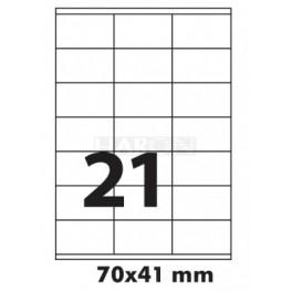 Tisk samolepích etiket 70 x 41 mm