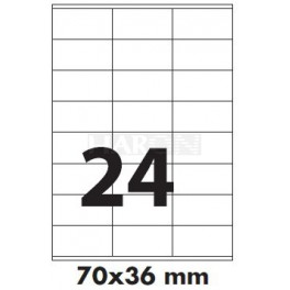 Tisk samolepích etiket 70 x 36 mm