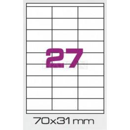 Tisk samolepících etiket 70 x 30 mm