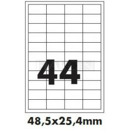 Tisk samolepících etiket 48,5 x 25,4 mm