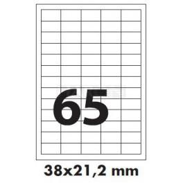 Tisk samolepících etiket 38 x 21,2 mm