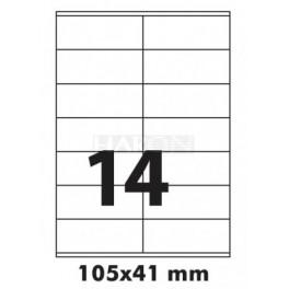 Tisk samolepících etiket 105 x 41 mm