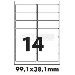 Tisk samolepících etiket 99,1 x 38,1 mm