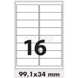 Tisk samolepících etiket 99,1 x 34 mm