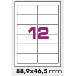 Tisk samolepících etiket 88,9 x 46,5 mm