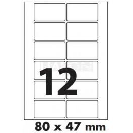 Tisk samolepících etiket 80 x 47 mm