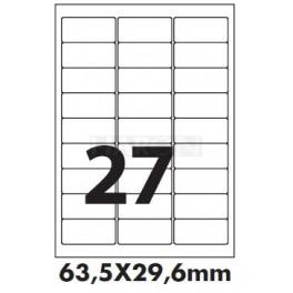 Tisk samolepících etiket 63,5 x 29,6 mm