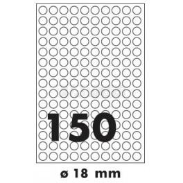 Tisk samolepících etiket 18 mm kruhové