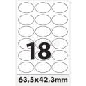 Tisk samolepících etiket 63,5 x 42,3 mm oválné