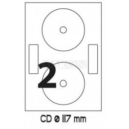 Tisk etiket 118 mm na polep CD/DVD
