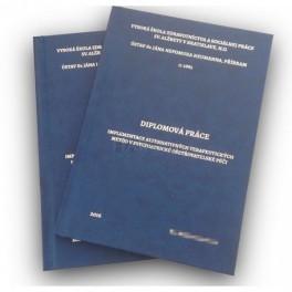 Tuhé desky s Vaším textem a svázání práce