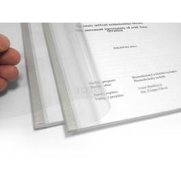 Vazba v měkkých průhledných deskách Flex