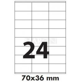 Tisk samolepících etiket 70 x 36 mm