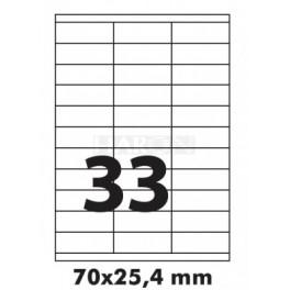 Tisk samolepících etiket 70 x 25,4 mm