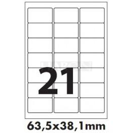 Tisk samolepících etiket 63,5 x 38,1 mm