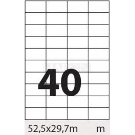 Tisk samolepících etiket 52,5 x 29,7 mm