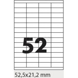 Tisk samolepících etiket 52,5 x 21,2 mm