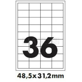 Tisk samolepících etiket 48,5 x 31,2 mm