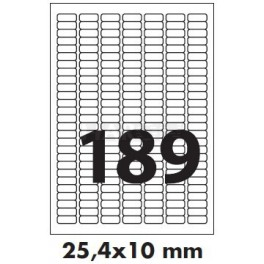 Tisk samolepících etiket 25,4 x 10 mm