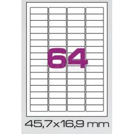 Tisk samolepících etiket 45,7 x 16,9 mm