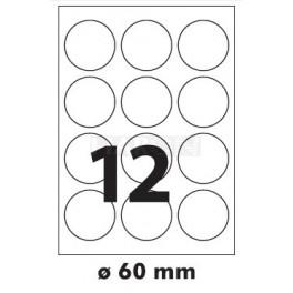 Tisk samolepících etiket 60 mm kruhové