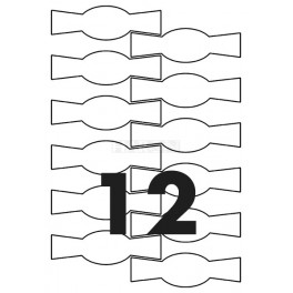Tisk samolepících etiket 122 mm tvar motýlek